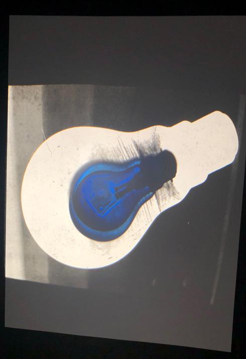 ex-ray like image of bulb inside a bulb