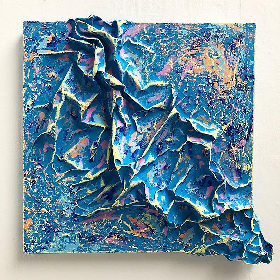 Blue 3D painting