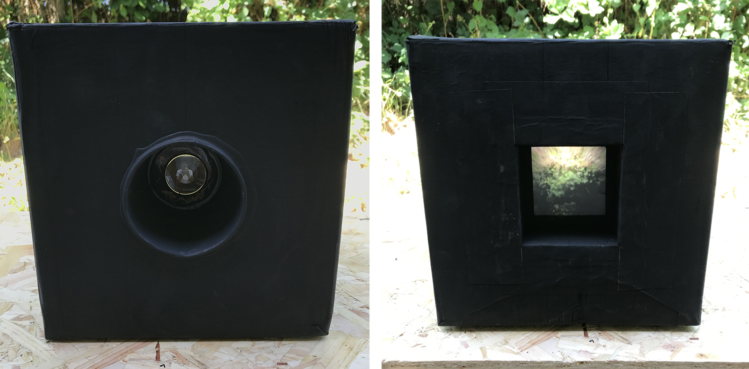 Camera obscura front and back
