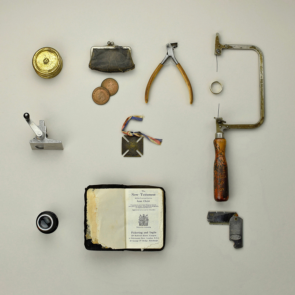 A collection of tools and objects